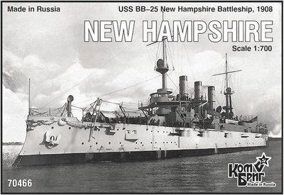 Combrig 1/700 Battleship USS New Hampshire BB-25, 1908, resin kit #70466PE