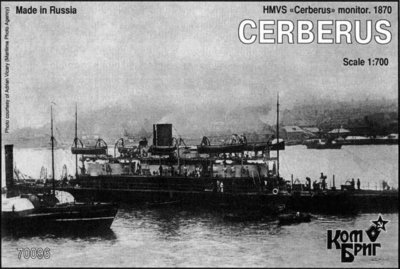 Combrig 1/700 Monitor HMVS Cerberus, 1870, resin kit #70096