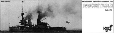 Combrig 1/700 Battlecruiser HMS Indomitable, 1906, resin kit #70251PE