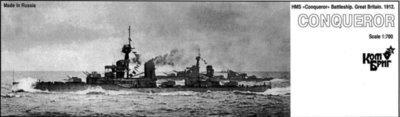 Combrig 1/700 Battleship HMS Conqueror, 1912, resin kit #70260PE