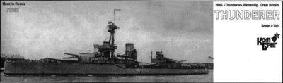 Combrig 1/700 Battleship HMS Thunderer, 1912, resin kit #70262PE