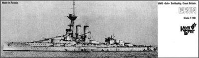 Combrig 1/700 Battleship HMS Erin, 1914, resin kit #70263PE