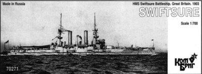 Combrig 1/700 Battleship HMS Swiftsure, 1903, resin kit #70271PE