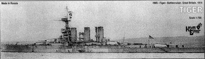 Combrig 1/700 Battlecruiser HMS Tiger, 1914, resin kit #70285
