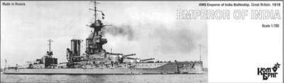 Combrig 1/700 Battleship HMS Emperor of India, 1918, resin kit #70402PE