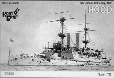 Combrig 1/700 Battleship HMS Hood, 1893, resin kit #70406