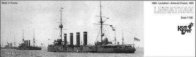 Combrig 1/700 Armored Cruiser HMS Leviathan, 1903, resin kit #70413PE