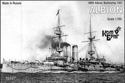 Combrig 1/700 Battleship HMS Albion, 1901, resin kit #70447