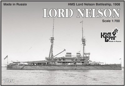 Combrig 1/700 Battleship HMS Lord Nelson, 1908, resin kit #70451PE