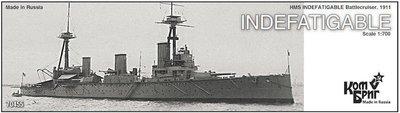 Combrig 1/700 Battlecruiser HMS Indefatigable, 1911, resin kit #70455PE