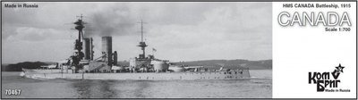 Combrig 1/700 Battleship HMS Canada, 1915, resin kit #70467PE