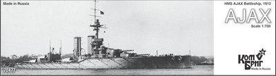 Combrig 1/700 Battleship HMS Ajax, 1912, resin kit #70477PE