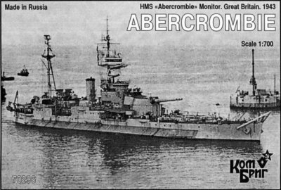 Combrig 1/700 Monitor HMS Abercrombie, 1943, resin kit #70296