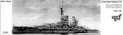 Combrig 1/700 Battleship SMS Baden, 1916, resin kit #70255PE