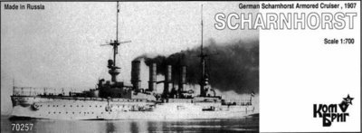 Combrig 1/700 Armored Cruiser SMS Scharnhorst, 1907, resin kit #70257PE