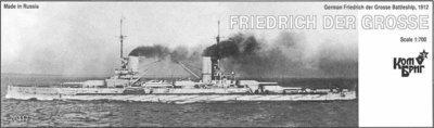 Combrig 1/700 Battleship SMS Friedrich der Grosse, 1912, resin kit #70417PE