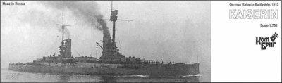 Combrig 1/700 Battleship SMS Kaiserin, 1913, resin kit #70418PE