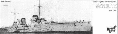Combrig 1/700 Battlecruiser SMS Seydlitz, 1913, resin kit #70421PE
