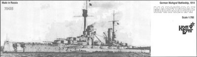 Combrig 1/700 Battleship SMS Markgraf, 1914, resin kit #70426PE