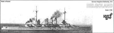 Combrig 1/700 Battleship SMS Helgoland, 1911, resin kit #70429PE