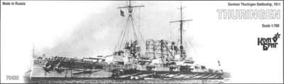 Combrig 1/700 Battleship SMS Thuringen, 1911, resin kit #70430PE