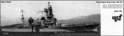 Combrig 1/700 Heavy Cruiser Algerie, 1934, resin kit #70286PE