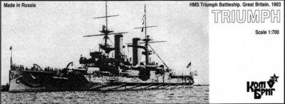 Combrig 1/700 Battleship HMS Triumph, 1903, resin kit #70293PE