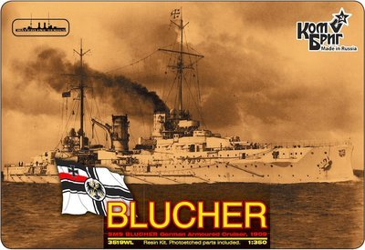 Combrig 1/350 German Armored Cruiser SMS Blucher, 1909, resin kit #3519WL