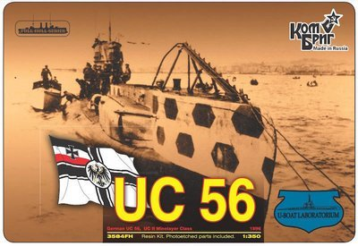 Combrig 1/350 German Submarine UC-56, 1916, resin kit #3584FH
