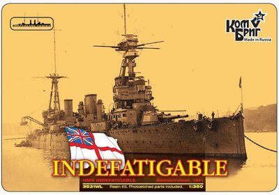 Combrig 1/350 Battlecruiser HMS Indefatigable, 1911, resin kit #3531WL