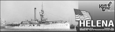 Combrig 1/350 Gunboat USS Helena PG-9, 1897, resin kit #3552WL/FH