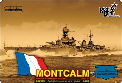 Combrig 1/350 Light Cruiser Montcalm, 1940, resin kit #3579FH
