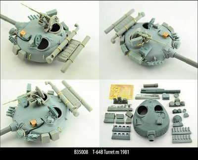 Miniarm 1/35 T-64B Turret m 1981, includes PE part