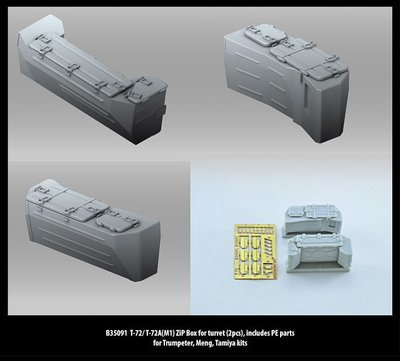 Miniarm 1/35 T-72/ T-72A(M1) ZiP Box for turret (2pcs), includes PE parts