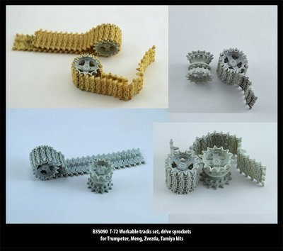 Miniarm 1/35 T-72 Workable tracks set, drive sprockets
