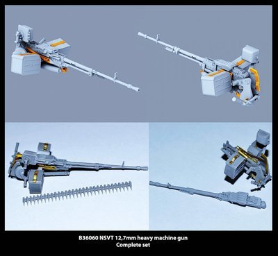 Miniarm 1/35 NSVT 12,7mm heavy machine gun + fastening and PE parts