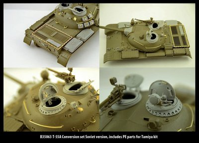 Miniarm 1/35 T-55A Conversion set Soviet version, includes PE parts