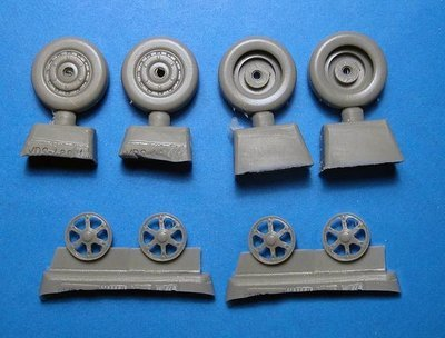 1/48 XF5U-1 Flying Pancake wheels (Kitty Hawk kit) Vector Resin #VDS48-106