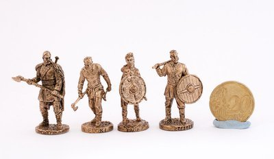 40mm Vikings metal miniatures - brass