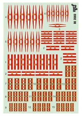 Combrig 1/700 Austro-Hungarian Navy Flags decal #DE7003