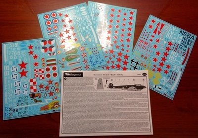 1/48 Pe-2/Pe-3 Decal Begemot for Zvezda kit #48-041