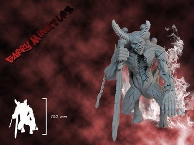 Soul Collector Daemon 90mm resin figure by Garry Miniatur's