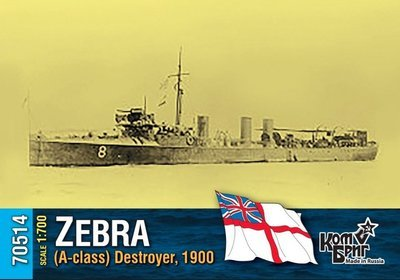 Combrig 1/700 HMS Zebra (A-class) Destroyer, 1900 #70514