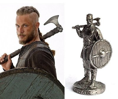 40mm Ragnar Lodbrok Vikings metal miniature figure side shield
