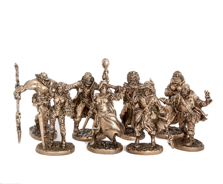 40mm The Black Company brass miniatures pack - 8pcs