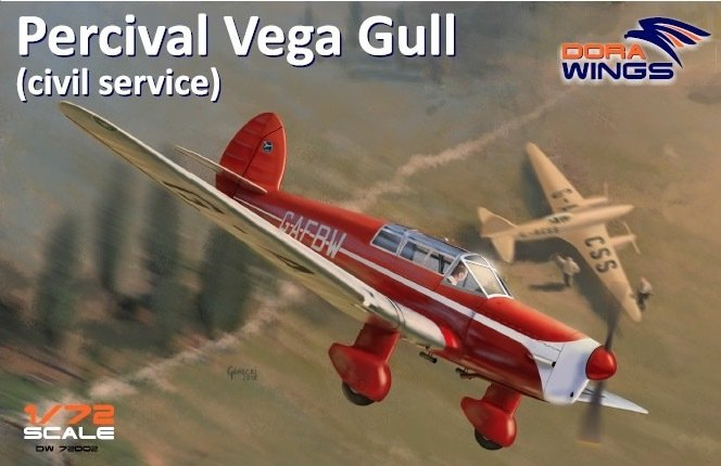 DoraWings 1/72 Percival Vega Gull (civil registration)