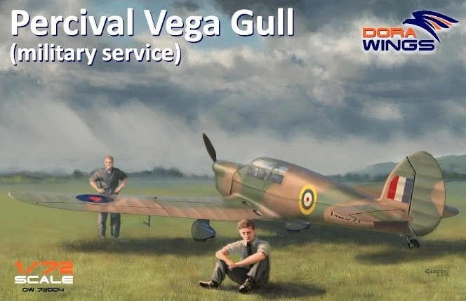 DoraWings 1/72 Percival Vega Gull (military service)