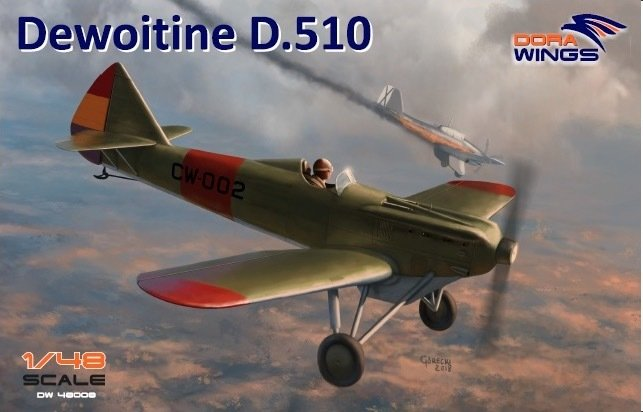 DoraWings 1/48 Dewoitine D.510 Spanish civil war (+bonus Japan, NIJ)