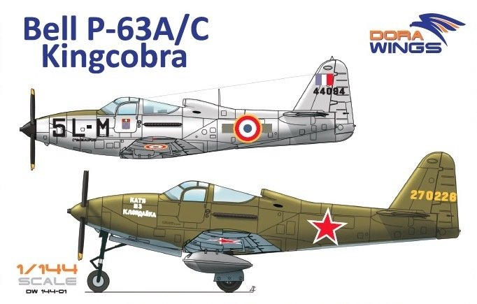 DoraWings 1/144 Bell P-63A/C Kingcobra (2 in 1)