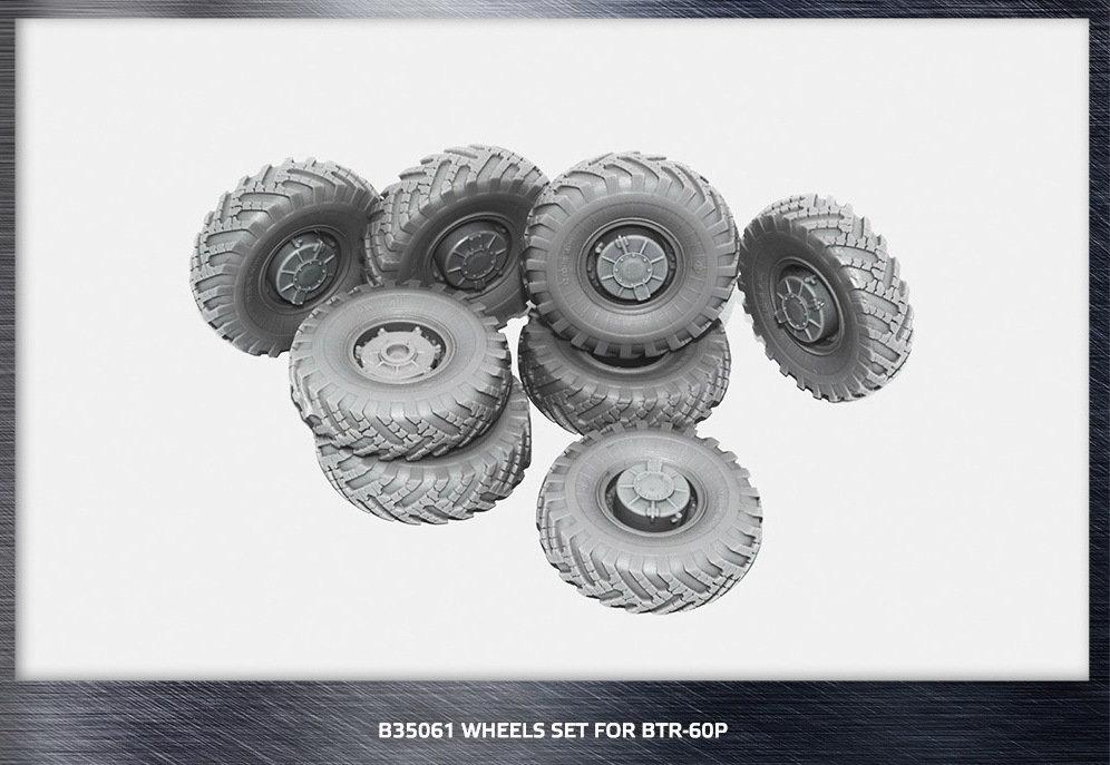 Miniarm 1/35 BTR-60P Road wheels set, 8pcs